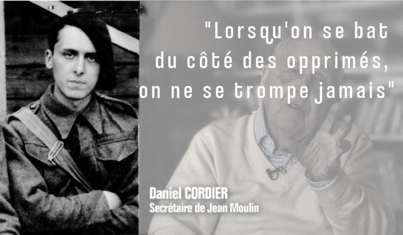 DÉCÈS DE DANIEL CORDIER : Hommage au dernier compagnon de la libération, mais aussi refus indigné du négationnisme anticommuniste régnant honteusement en matière de mémoire résistante !