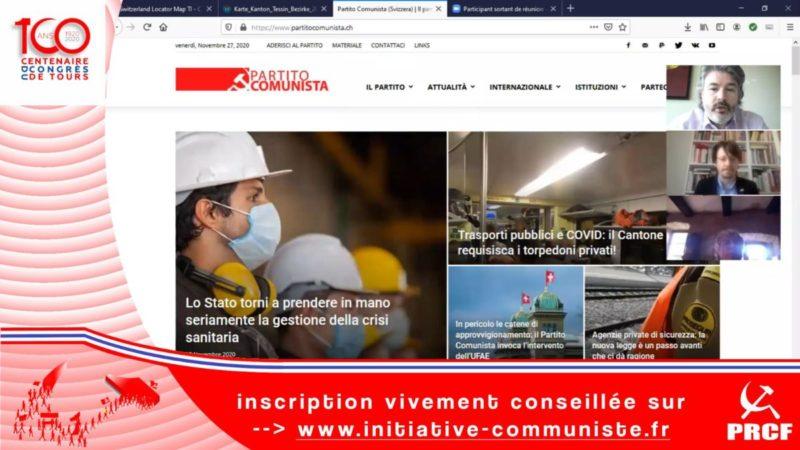 Entretien exclusif avec Massimiliano Ay secrétaire politique du Parti Communiste (Suisse) #100ansduCongrèsdeTours #vidéo