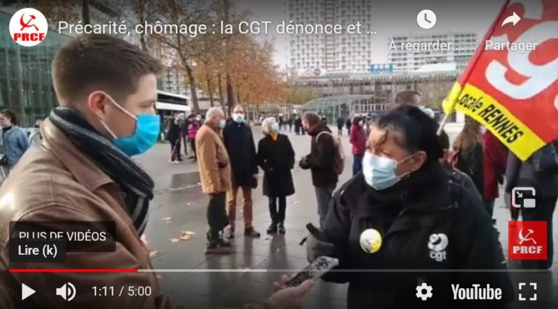 Précarité, chômage : la CGT dénonce et agit ! la parole à Dominique Besson-Milord, secrétaire de l'UD CGT 35.