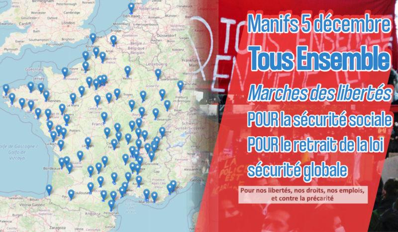 Liberté, emplois : 5 décembre de manifestations dans toute la France ! #Marchedeslibertés