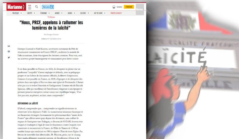 """""""Appelons à rallumer les lumières de la laïcité"""" la tribune du PRCF dans Marianne"""