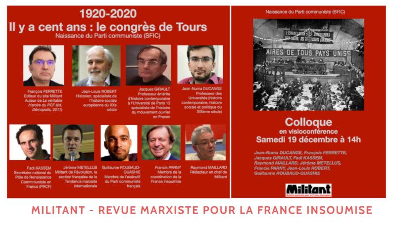 #100ansduCongrèsdeTours Fadi Kassem intervient à 16H au colloque en ligne organisé par Militant.