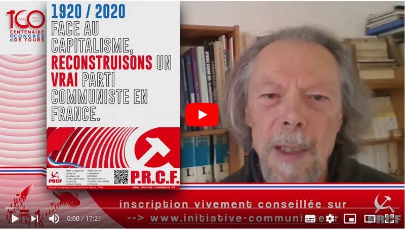 #100ansduCongrèsdeTours : Reconstruisons un parti communiste pour faire gagner les travailleurs – l'appel de Georges Gastaud #vidéo
