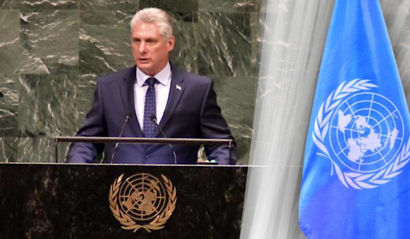 COVID 19, CRISE GÉNÉRALE DU CAPITALISME, QUELLE ISSUE HUMANISTE POUR LE MONDE ? Le président de la République de Cuba, Miguel Diaz Canel, s'adresse à toute l'humanité à travers l'Assemblée générale de l'ONU …