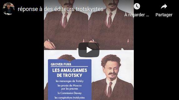 """Aymeric Monville, éditeur des """"Amalgames de Trotsky – par Grover Furr"""" répond à l'éditeur de """"Trotsky n'est pas coupable""""."""