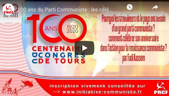 Célébrer dans l'action les #100ansduCongrèsdeTours avec le PRCF : pour reconstruire un grand parti communiste et ouvrir une perspective politique aux travailleurs ! L'appel de Fadi  Kassem