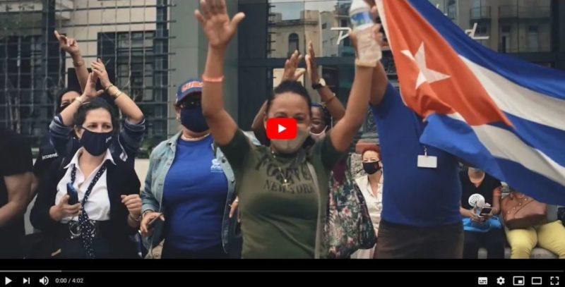 Ne t'en prends pas à Cuba : le peuple cubain réplique en dansant et chantant aux nouvelles agressions de Washington.