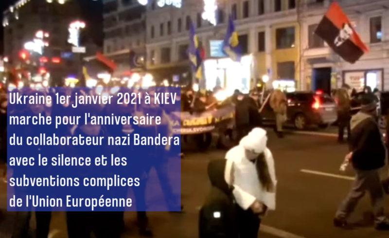 Ukraine : le collabo des nazis Stepan Bandera honoré à Kiev avec la complicité de l'Union Européenne, qui refuse de voter la résolution condamnant le nazisme à l'ONU.