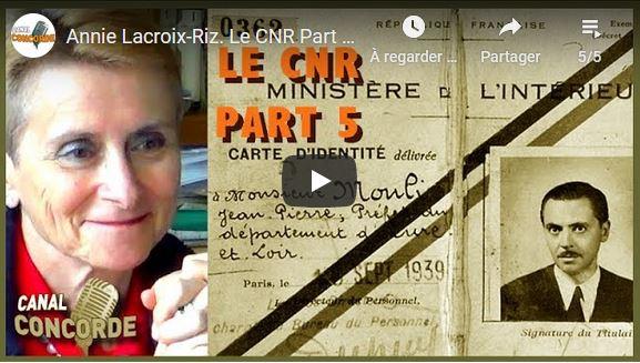 Annie Lacroix-Riz invitée de Canal Concorde, les 5 conférences vidéos.