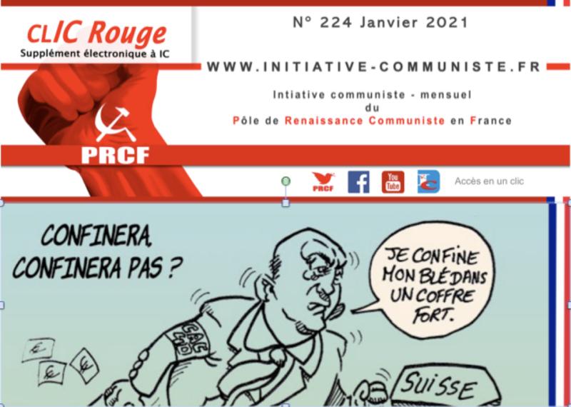 CLIC Rouge 224 – votre supplément électronique gratuit à Initiative Communiste [Janvier 2021] …