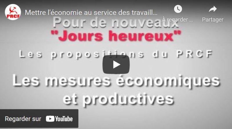 #2022 En 5 minutes et en vidéo, Fadi Kassem présente les mesures du PRCF pour mettre l'économie au service des travailleurs.