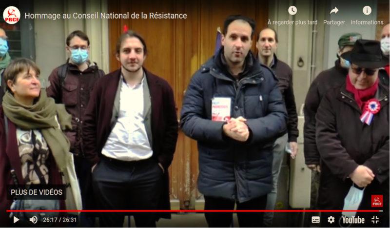 """""""se battre pour une France libre, indépendante, souveraine, sociale"""" la prise de parole de signataires de l'appel du 29 mai pour l'anniversaire du CNR #vidéo"""