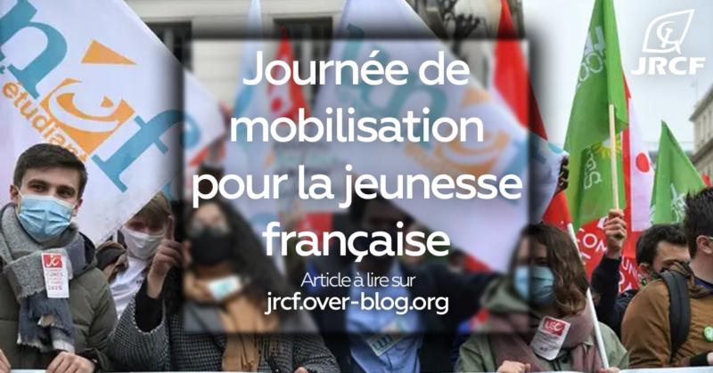 Les jeunes communistes (JRCF) appellent à rejoindre et soutenir la mobilisation de la jeunesse