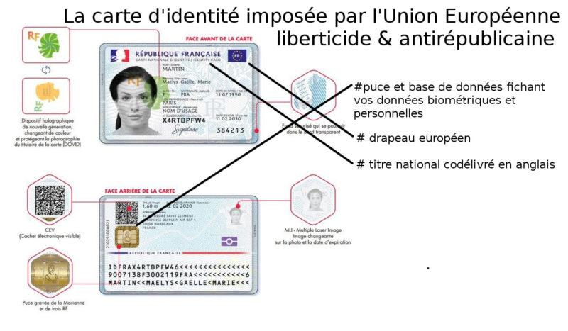 Carte d'identité en anglais et sous drapeau européen : le COURRIEL saisit les présidents de groupe Mélenchon et Chassaigne