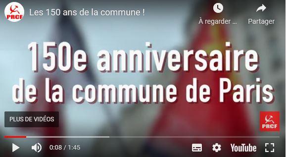 150 ans de la Commune : la prise de parole de Fadi Kassem