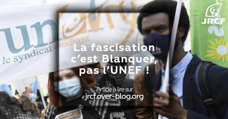 #BlanquerDémission Non à la dissolution de l'UNEF exigée par Blanquer !