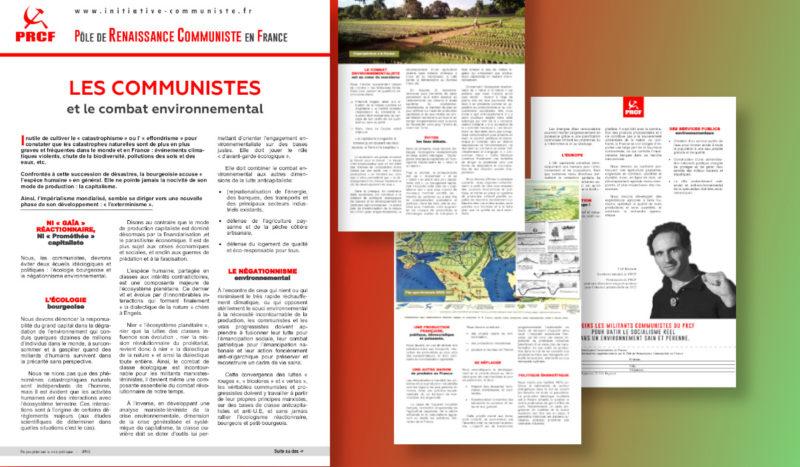 Les communistes et le combat environnemental #Tract #28mars #loiclimat