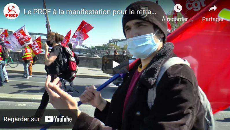 Contre l'euro réforme de l'#AssuranceChomage, des manifestations dans toute la France, le PRCF présent.