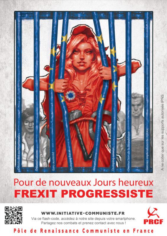 Les militants du PRCF lancent une nouvelle affiche pour le #FREXIT progressiste