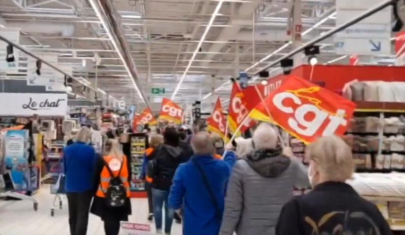 Vidéo : Antoine, délégué CGT Carrefour, explique les raisons de la colère.