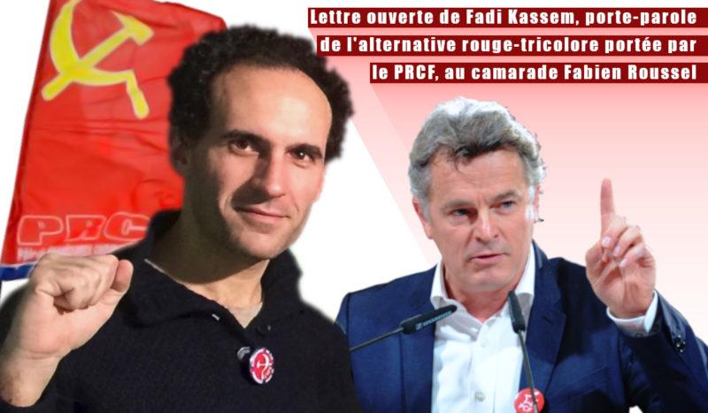 Lettre ouverte de Fadi Kassem, porte-parole de l'alternative rouge-tricolore portée par le PRCF, au camarade Fabien Roussel