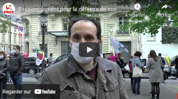 Fadi Kassem au rassemblement pour la défense de nos services publics #vidéo