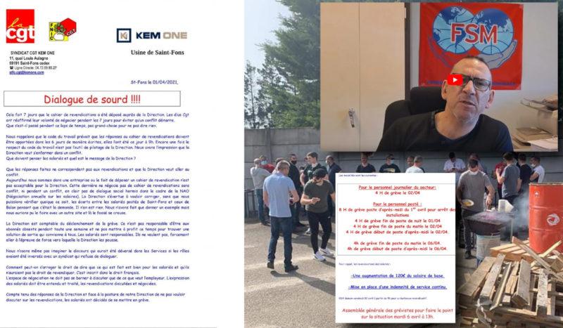 Chimie Kem One Saint Fons en lutte, la parole au délégué CGT de l'usine.