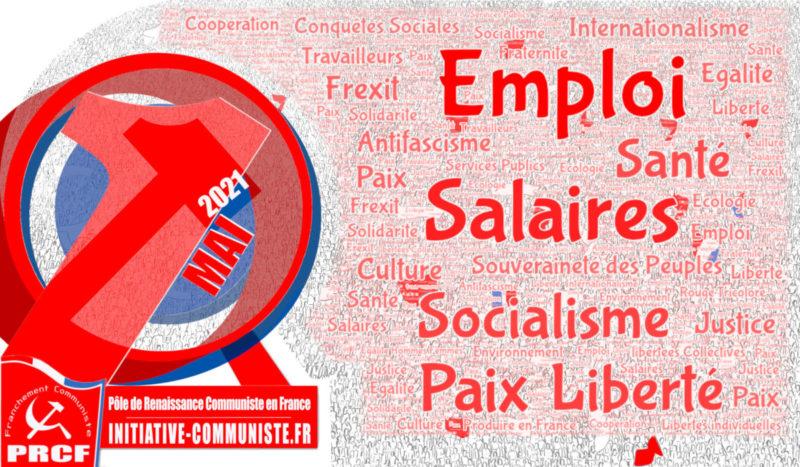 1er Mai 2021 : déclaration du secrétariat national du Pôle de Renaissance Communiste en France (PRCF)