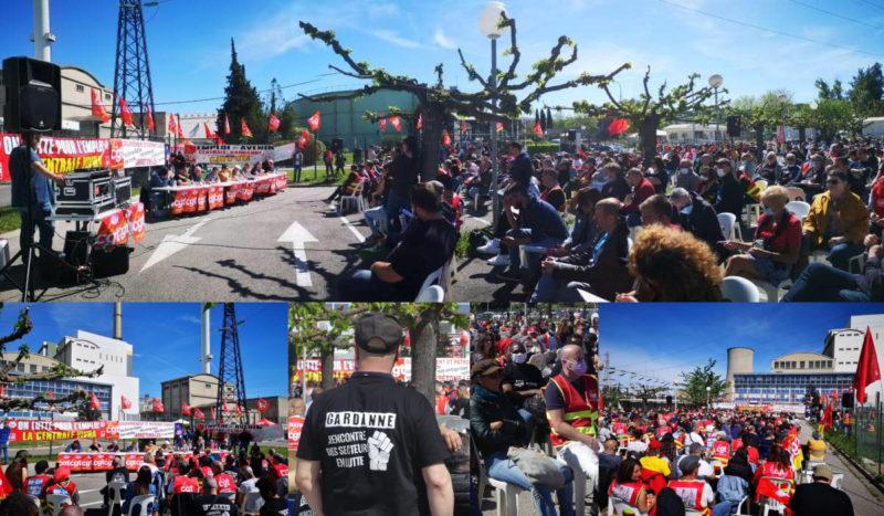 1000 syndicalistes, réunis pour un meeting des luttes à la Centrale de Gardanne, appellent à l'offensive tous ensemble !