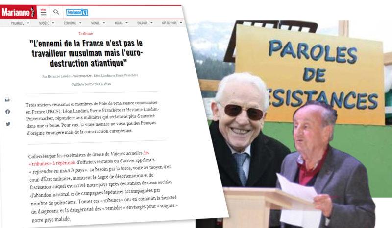 «L'ennemi de la France n'est pas le travailleur musulman mais l'euro-destruction atlantique»