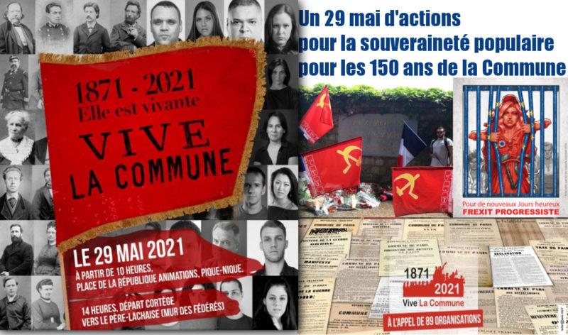 Un 29 mai d'actions pour la souveraineté populaire pour les 150 ans de la Commune #Paris  #Rennes