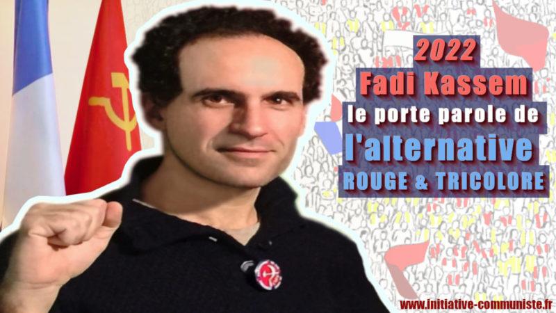 Fadi Kassem le porte parole de l'alternative  #rougetricolore  en conférence de presse à Paris #FK2022 #Frexitprogressiste#Présidentielles2022