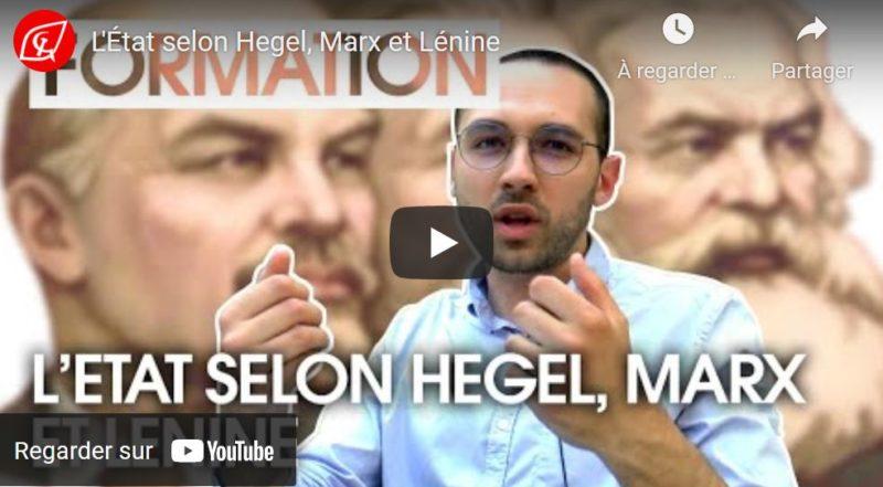 L'État selon Hegel, Marx et Lénine