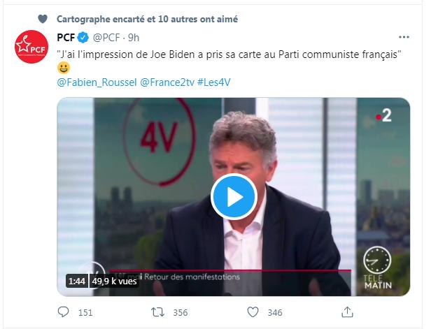 """Du """"communiste"""" Biden au """"communiste"""" bidon !"""
