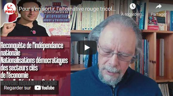 S'en sortir avec l'alternative #rougetricolore : les explications de Georges Gastaud