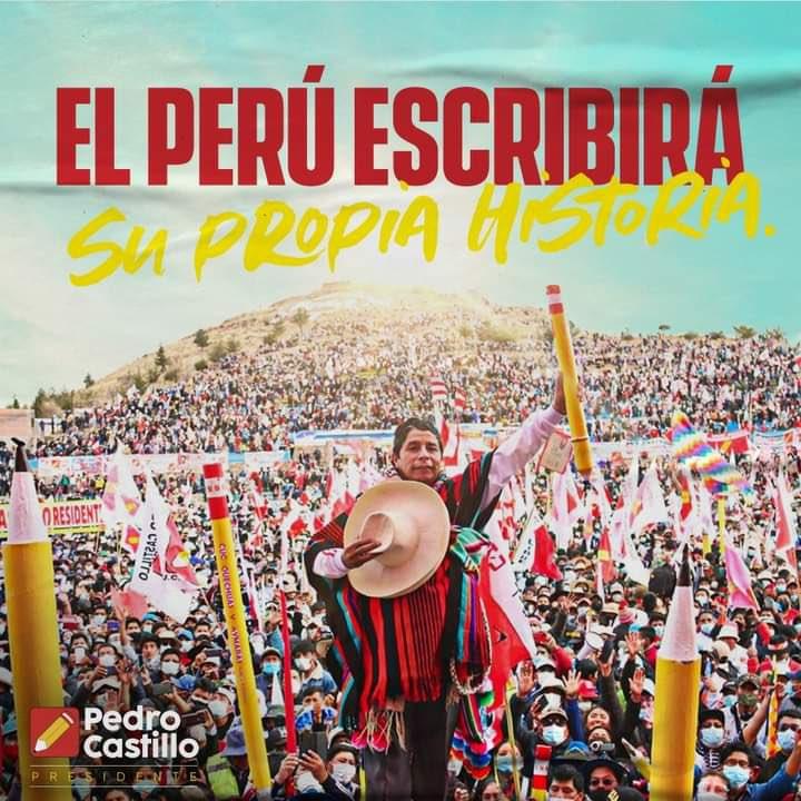 Perou : Pedro Castillo élu, les forces populaires à l'offensive au Mexique, Brésil, Chili et Colombie.