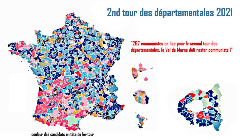 267 communistes en lice pour le second tour des départementales. Le Val de Marne doit rester communiste