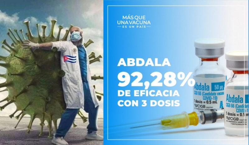 92% d'efficacité pour Abdala le vaccin contre le #covid19 développé et produit par Cuba socialiste #somosCuba #EliminaElBloqueo