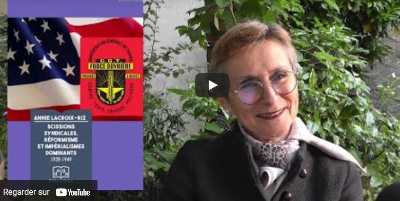 Scissions syndicales, réformisme et impérialismes dominants :  la vidéo de la conférence débat d'Annie Lacroix-Riz à la Librairie Tropiques.