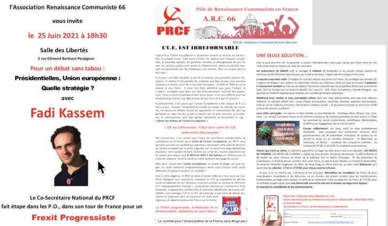 Fadi Kassem en meeting à Perpignan le 25 juin : #Frexit progressiste et présidentielles 2022. #FK2022 #Alternative #rougetricolore