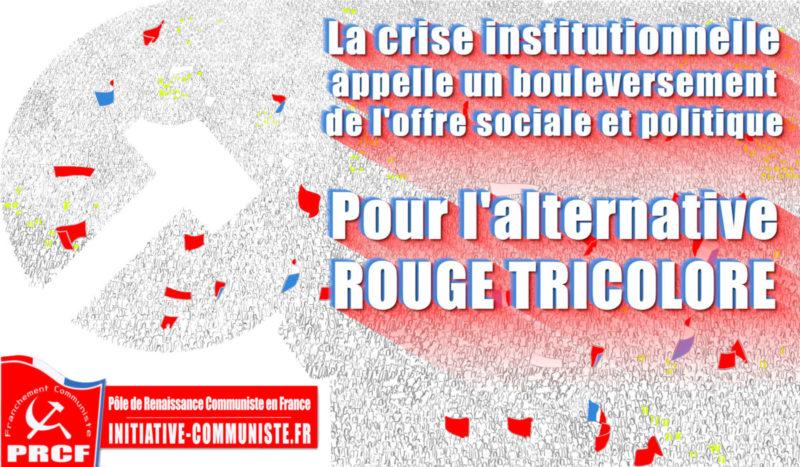 La crise institutionnelle appelle un bouleversement de l'offre sociale et politique
