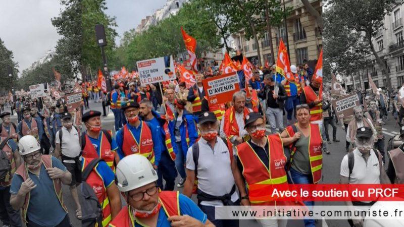 Face aux directives européennes, 13 000 manifestants pour les services publics, avec la CGT SNCF et la CGT énergie