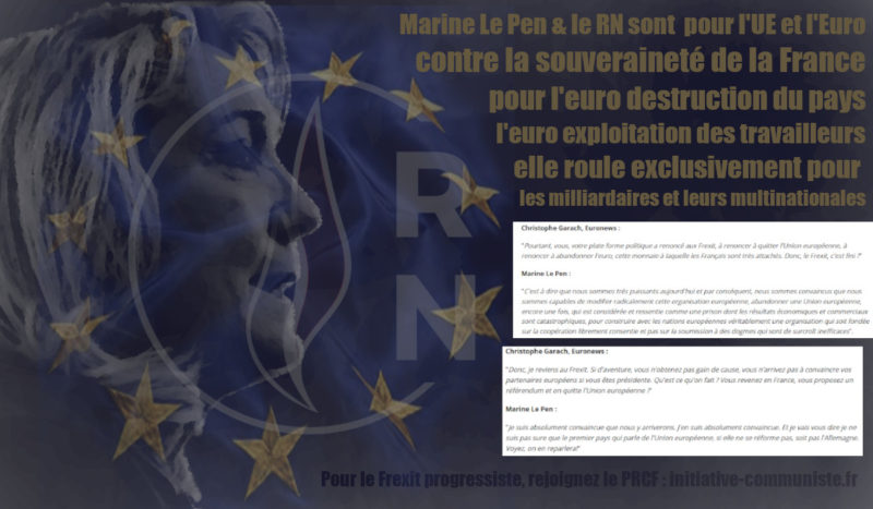 Le Pen Macron c'est l'Union Européenne : destruction de la France, exploitation des travailleurs et fascisation !