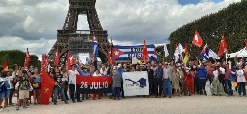 Le PRCF présent à Paris pour soutenir le peuple cubain et exiger la levée du blocus #laissezvivreCuba #LetCubaLive #CubaNoEstáSola