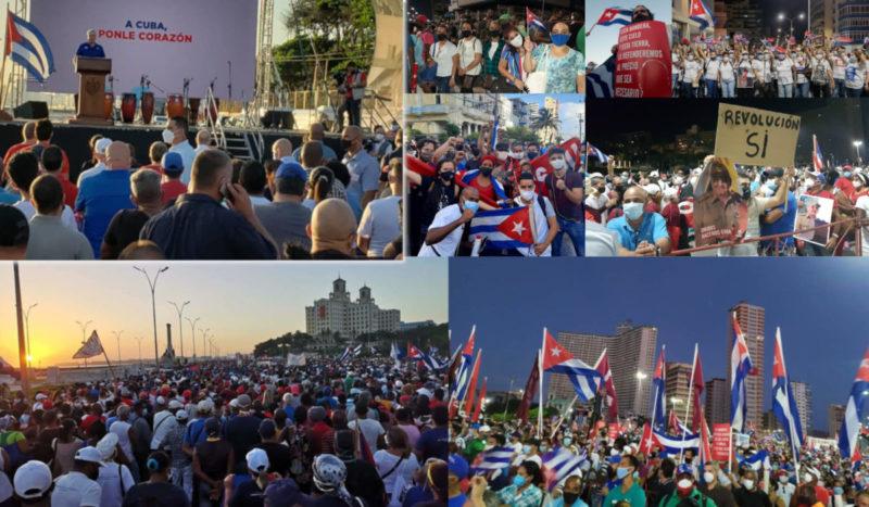 Manifestations monstres à Cuba pour soutenir la Révolution, exiger la fin du blocus criminel