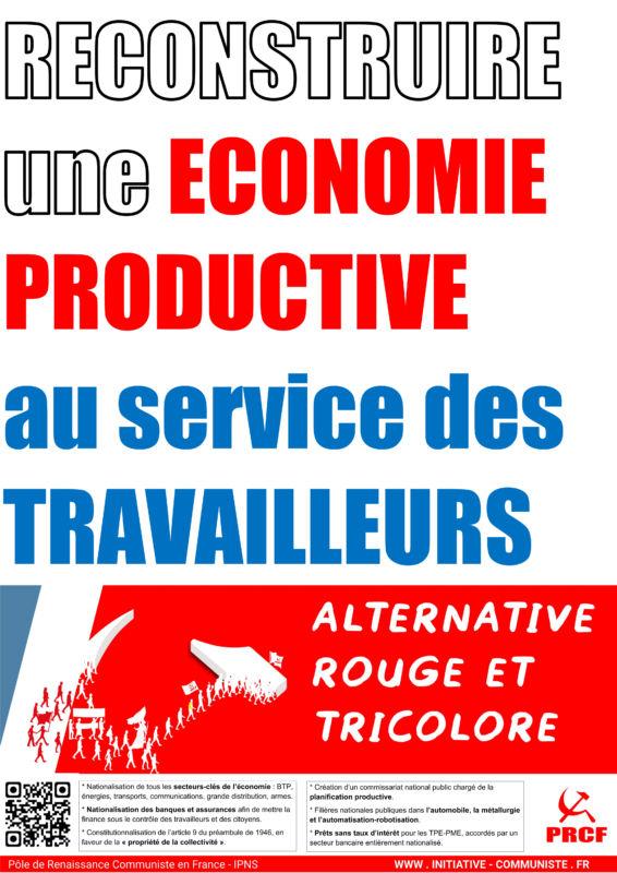 Pour mettre l'économie au service des travailleurs et des citoyens, avec Fadi Kassem, portons l'#Alternative #RougeTricolore