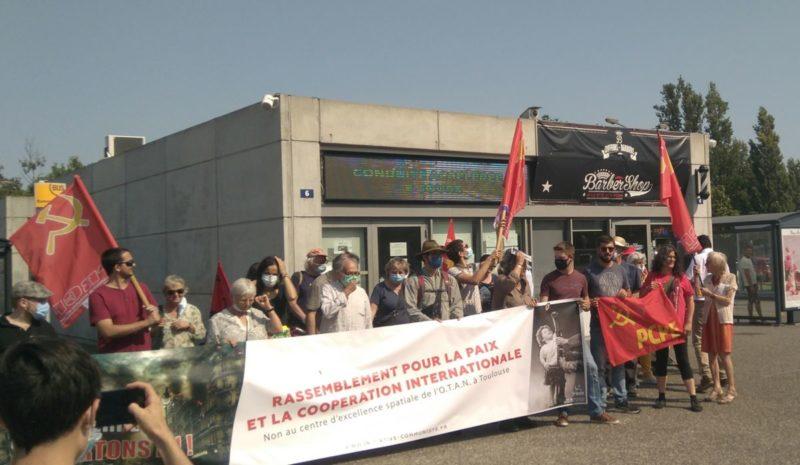 Mobilisés pour la paix, contre l'OTAN et son centre de guerre spatiale installé à Toulouse