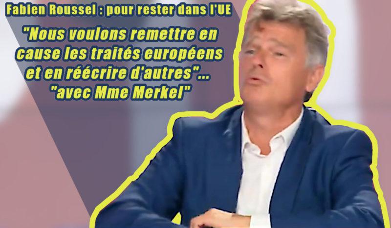 Chez Polony, entre l'Europe du Capital et les travailleurs, Fabien Roussel choisit… l'Union Européenne !