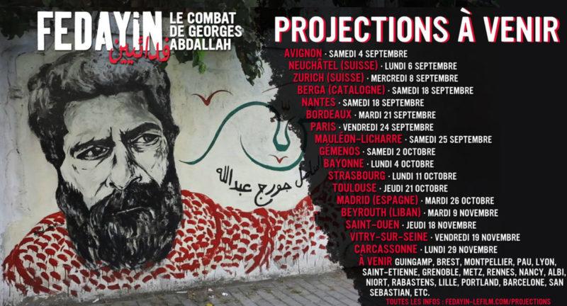 Fedayin, le film sur le combat et pour la libération de Georges Ibrahim Abdallah – |Bordeaux 21/10
