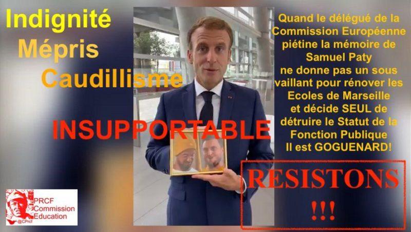 Macron à Marseille : indignité, mépris et caudillisme